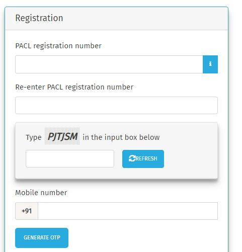 PACL REFUND FORM ONLINE REGISTRATION