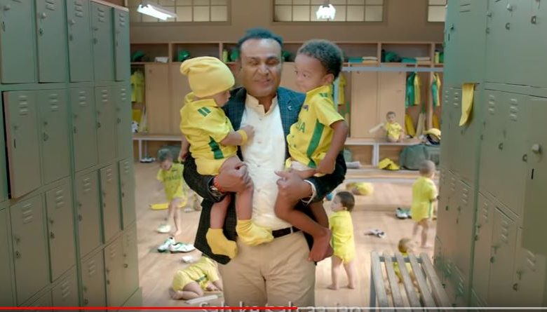VIRENDRA SAHWAG BABY SITTING AD 2019