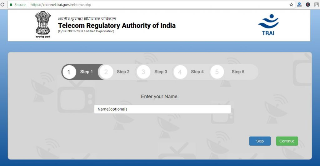 trai channel selection process