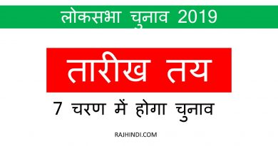 LOKSABHA CHUNAV 2019 DATES ELECTION DATES