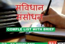 Photo of Samvidhan Sansodhan list in hindi