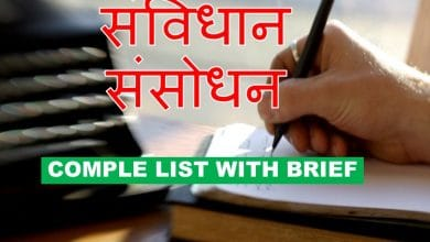 Photo of Samvidhan Sansodhan list in hindi