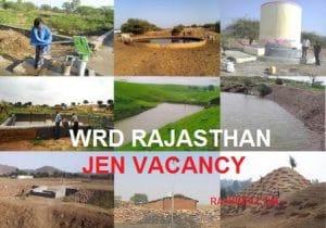 RSMSSB WRD Rajasthan JE Vacancy 2020, 1054 JEn Post PWD JE Notification Syllabus