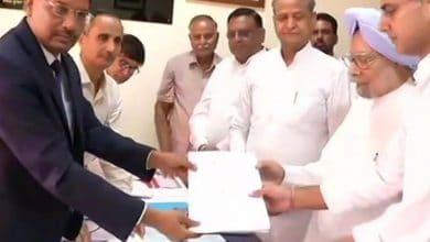 Photo of मनमोहन सिंह ने राजस्थान से भरा राज्यसभा का नामांकन, जीत तय