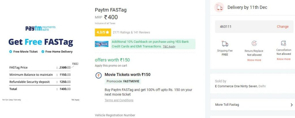 fastag payment process paytm full detailed