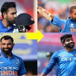 Bumrah Shikhar Dhawan Rohit Sharma Mohd Shami India Team