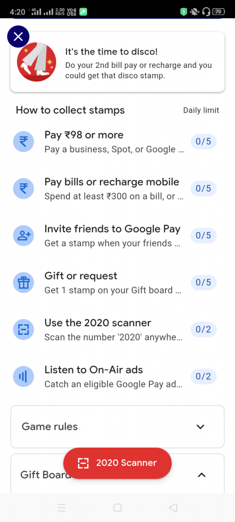 Google Pay reward 2020 girft card scanner stamp.png process