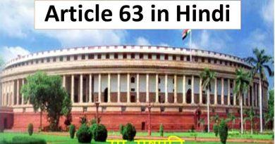 Article 63 in Hindi