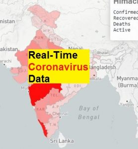 Realtime CoronaVIrus Data India Updated